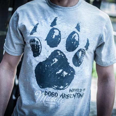 "Koszulka męska - ""Łapa - inspired by Dogo Argentino"" przód"