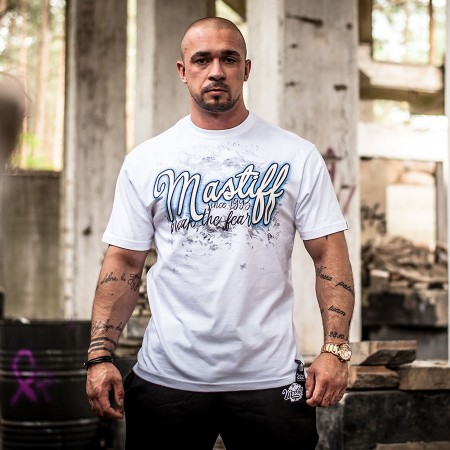"Koszulka męska ""Corsario"" - w kolorze białym"