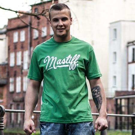 """Koszulka męska """"BASIC"""" - zielona, przód"""