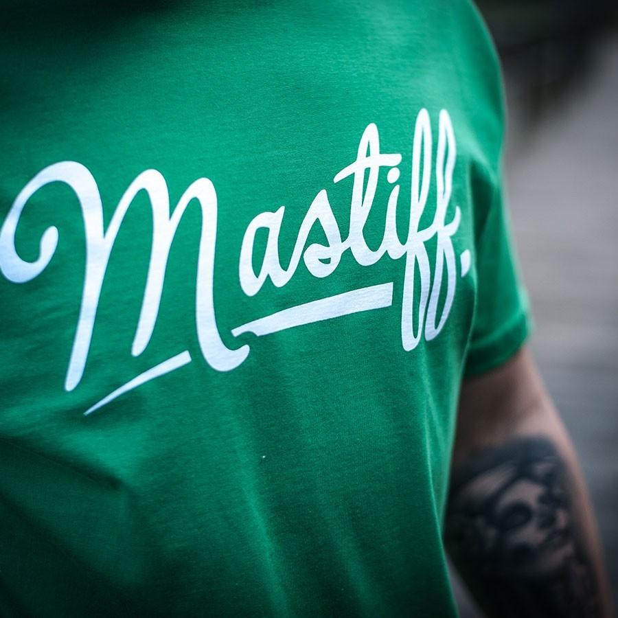 """Koszulka męska """"BASIC"""" - zielona, motyw z przodu"""